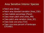 area sensitive interior species