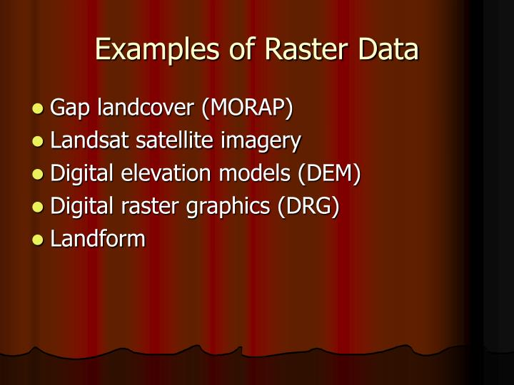 Examples of Raster Data