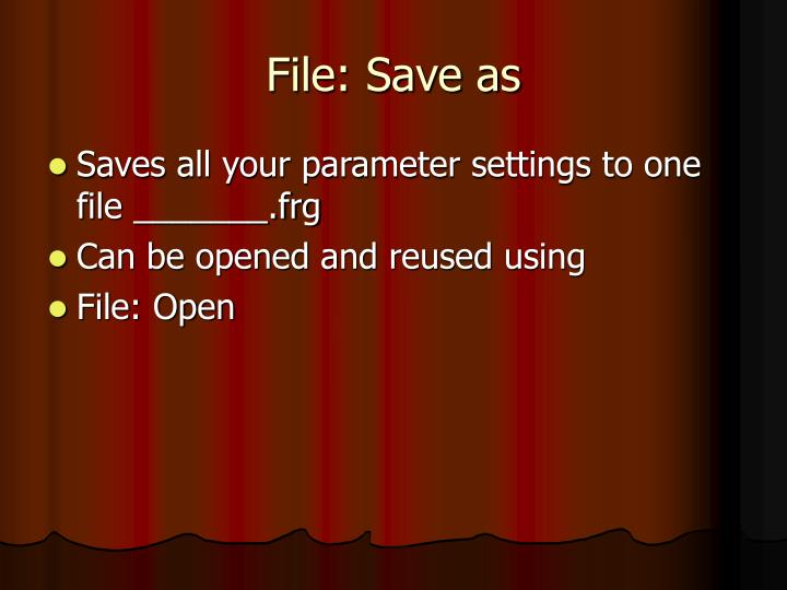 File: Save as