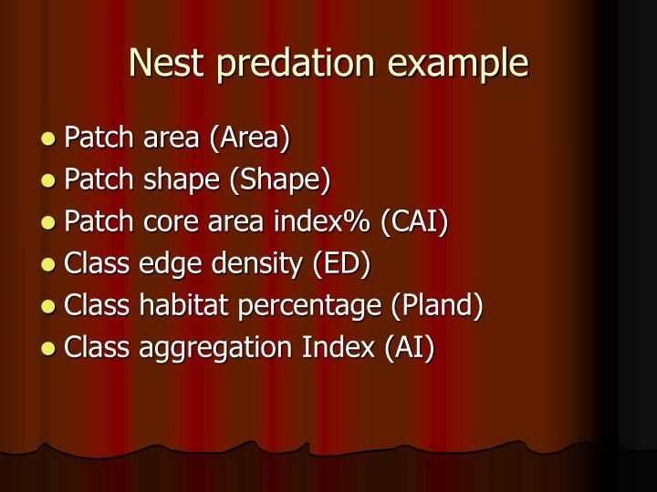 Nest predation example