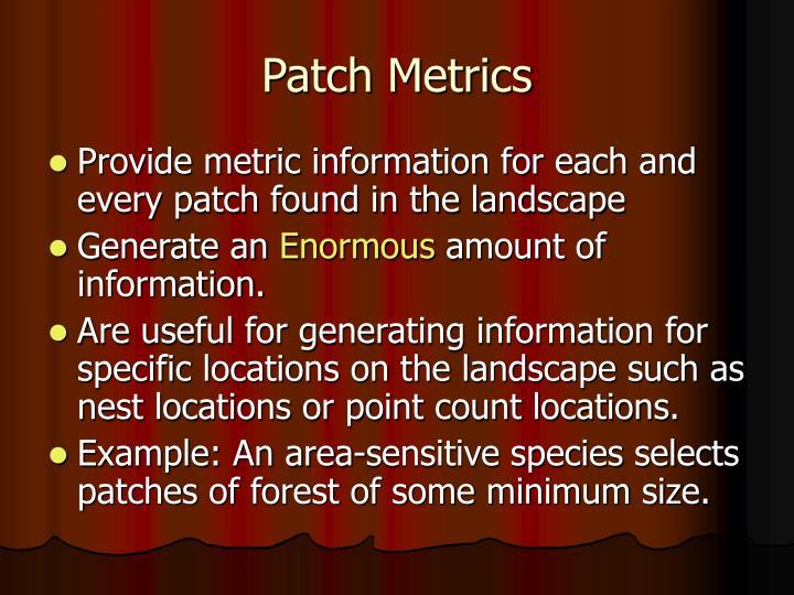 Patch Metrics