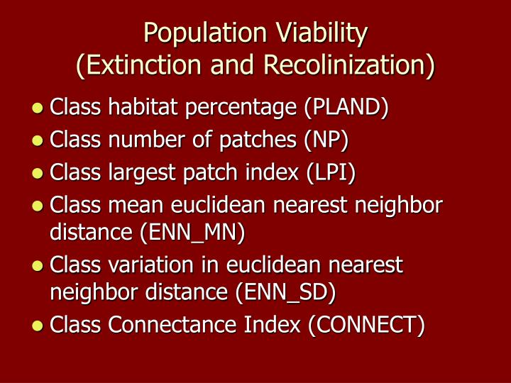 Population Viability