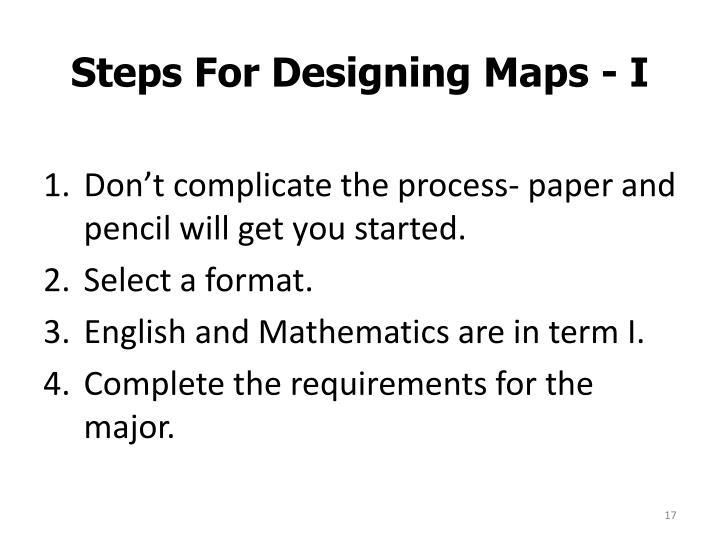 Steps For Designing Maps - I