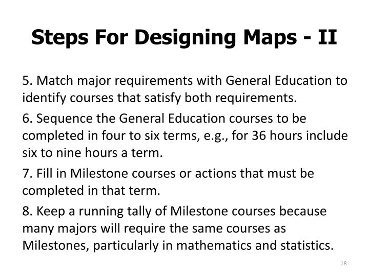 Steps For Designing Maps - II