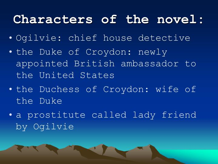 Characters of the novel:
