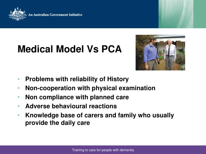 Medical Model Vs PCA