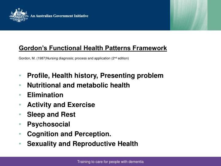 Gordon's Functional Health Patterns Framework