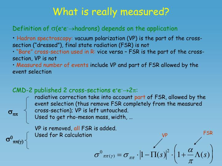 What is really measured?