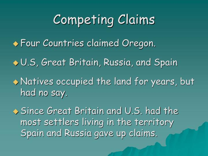 Competing Claims