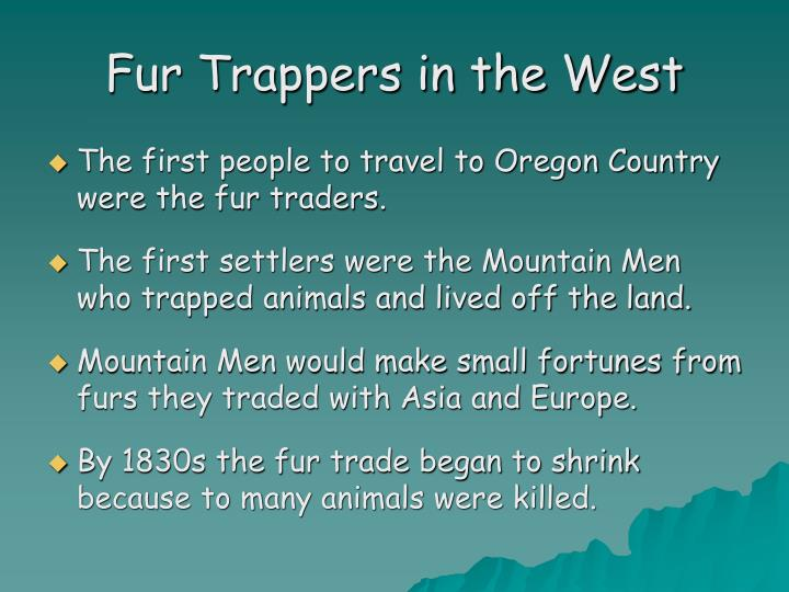 Fur Trappers in the West