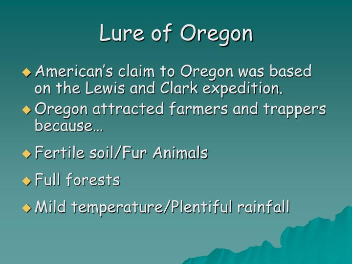 Lure of Oregon
