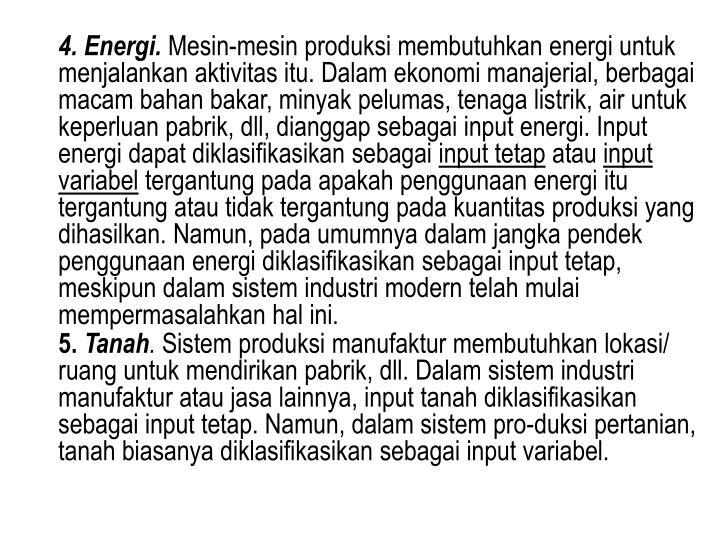 4. Energi.