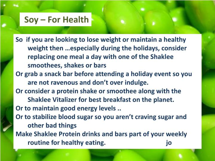 Soy – For Health