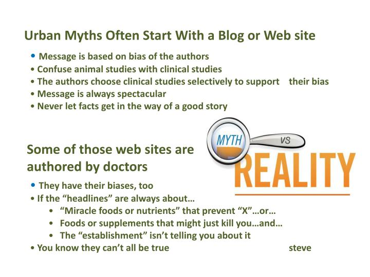 Urban Myths Often Start With a Blog or Web site