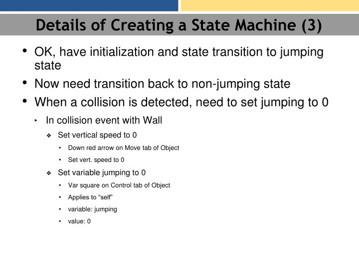 Details of Creating a State Machine (3)