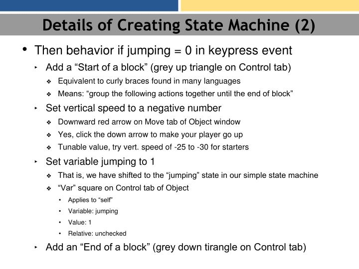 Details of Creating State Machine (2)