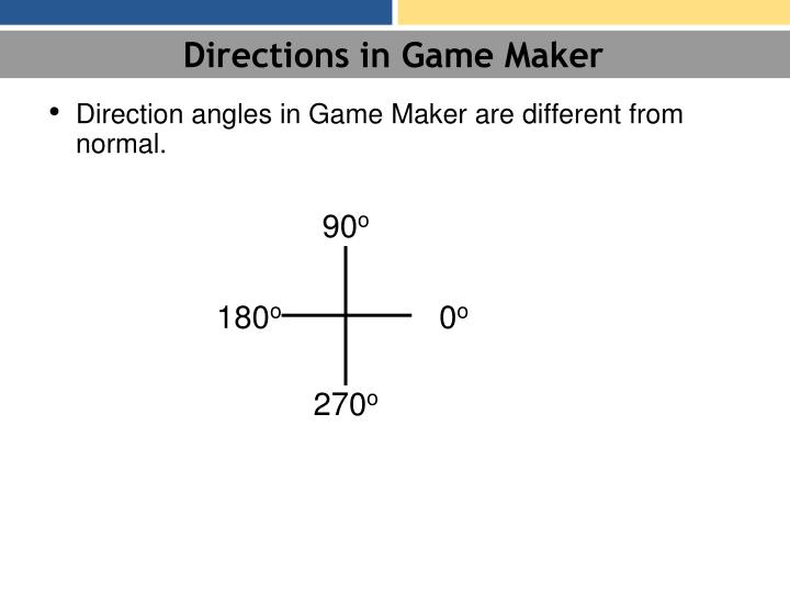 Directions in Game Maker