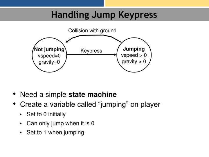 Handling Jump Keypress