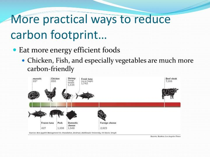 More practical ways to reduce carbon footprint…