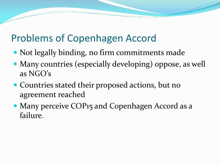 Problems of Copenhagen Accord