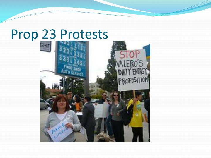Prop 23 Protests