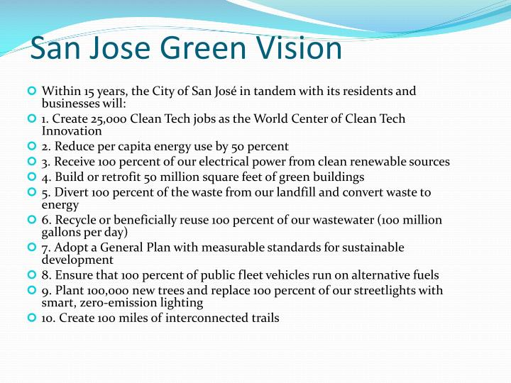 San Jose Green Vision