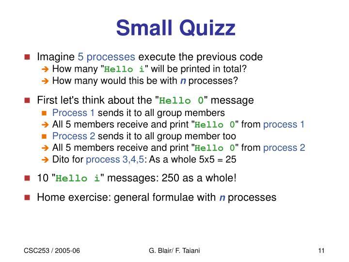 Small Quizz