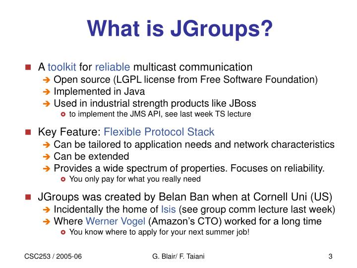 What is jgroups
