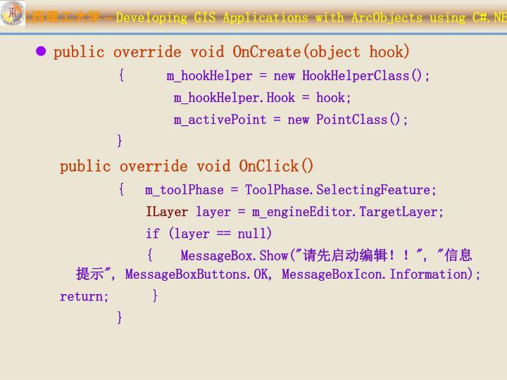 public override void OnCreate(object hook)