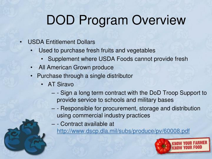 DOD Program Overview