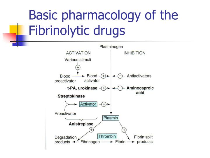 Basic pharmacology of the Fibrinolytic drugs