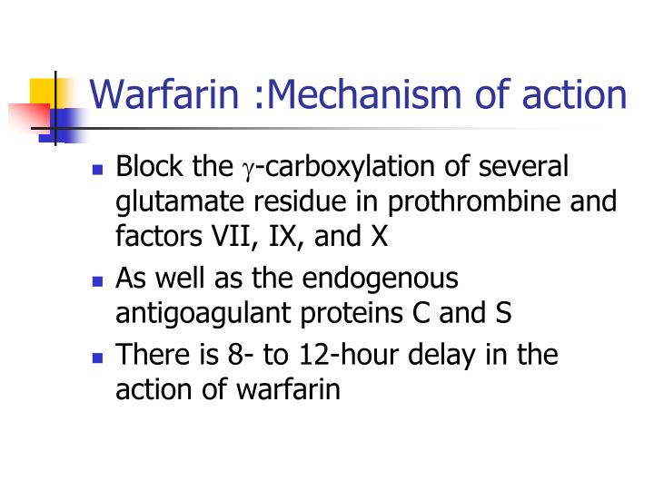 Warfarin :Mechanism of action