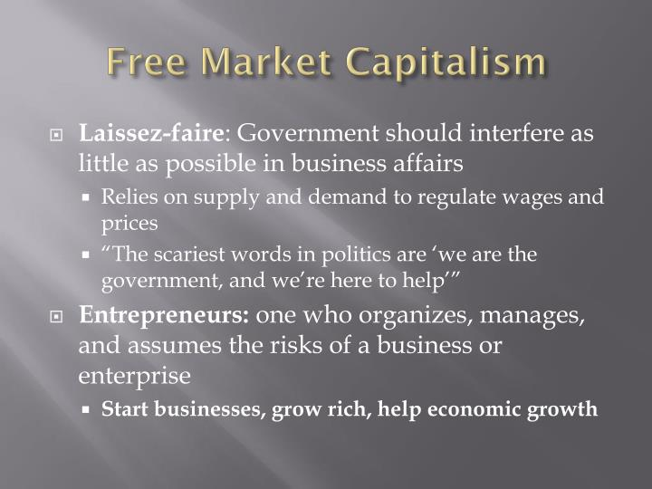 free market and capitalism