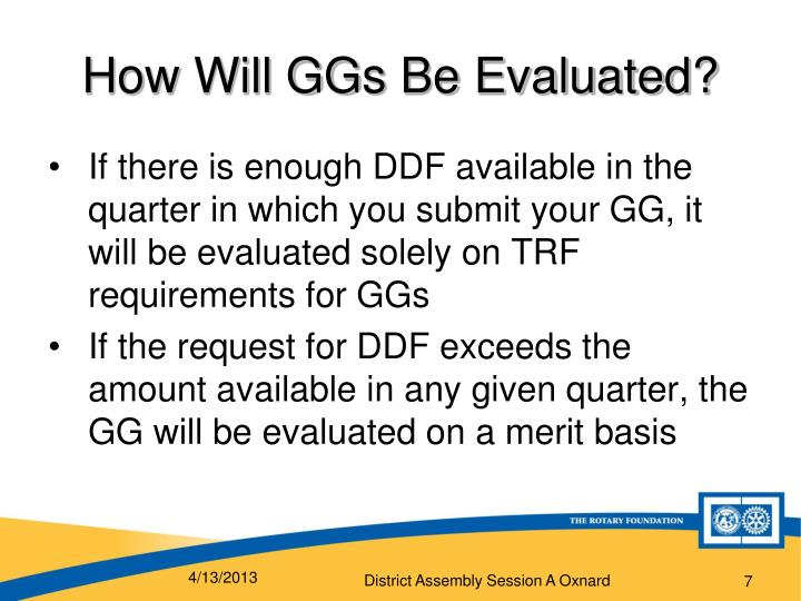 How Will GGs Be Evaluated?