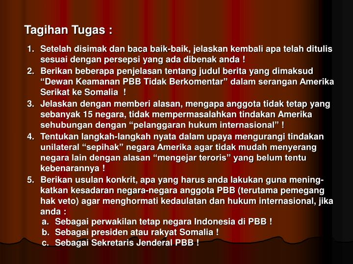 Tagihan Tugas :