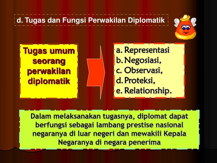 Tugas dan Fungsi Perwakilan Diplomatik