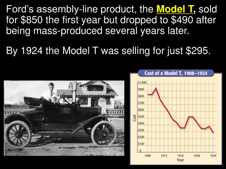 Ford's assembly-line product, the