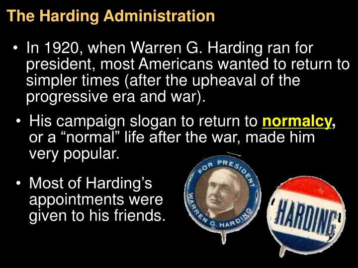 The Harding Administration