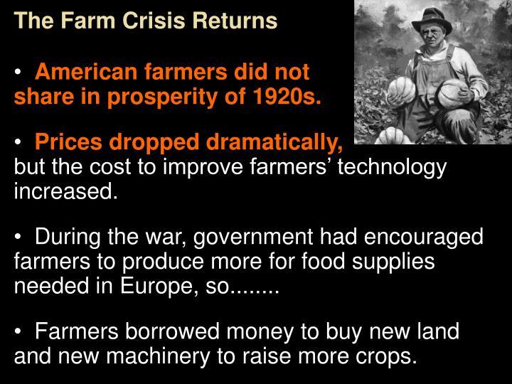 The Farm Crisis Returns