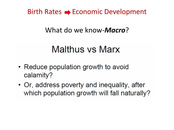 Birth Rates      Economic Development