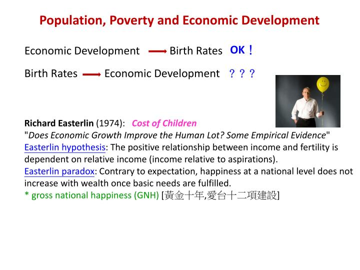 Population, Poverty and Economic Development