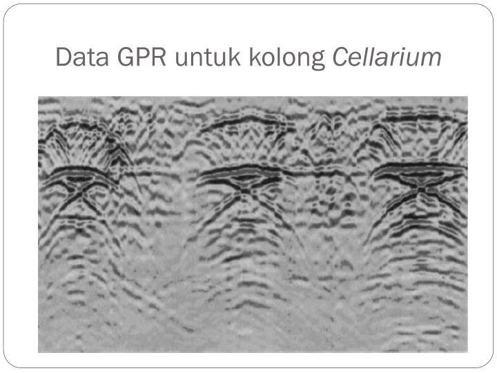 Data GPR untuk kolong