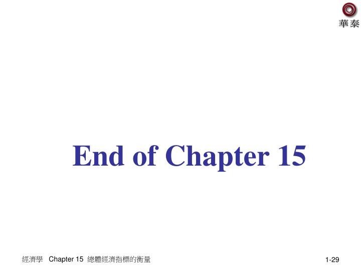 End of Chapter 15