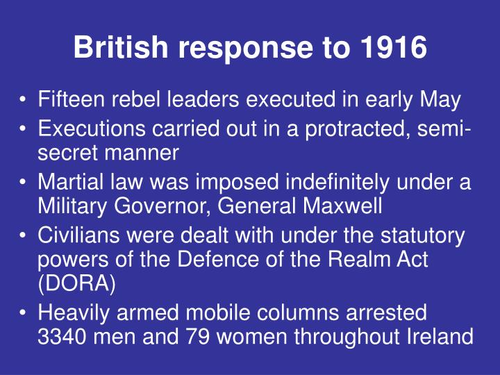 British response to 1916