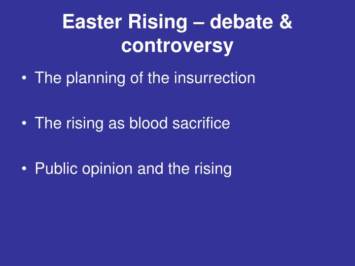 Easter rising debate controversy