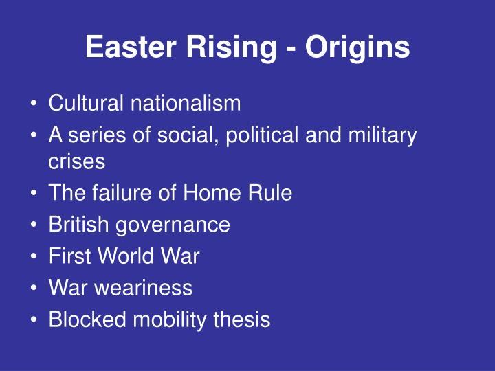 Easter Rising - Origins