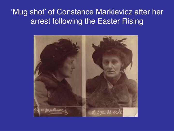 'Mug shot' of Constance Markievicz after her arrest following the Easter Rising