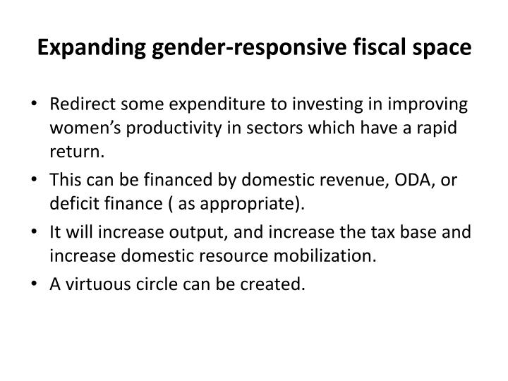 Expanding gender-responsive fiscal space