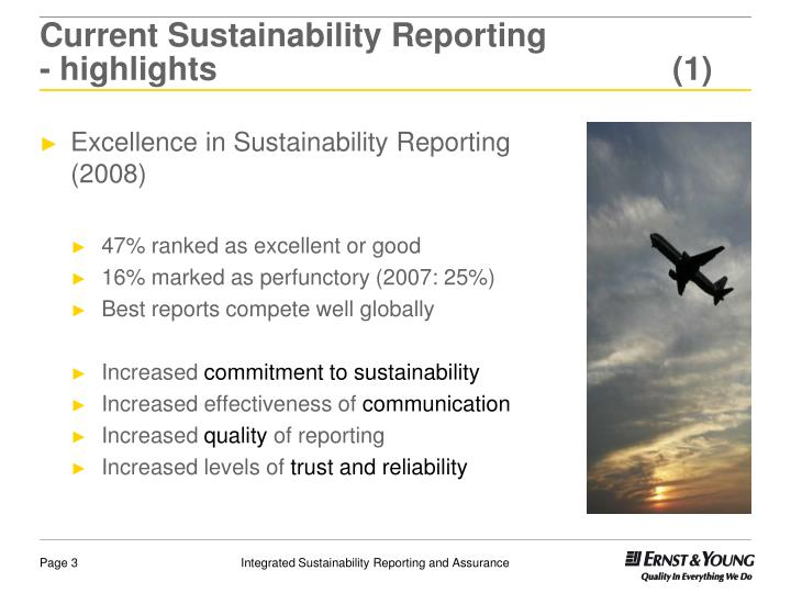 Current Sustainability Reporting