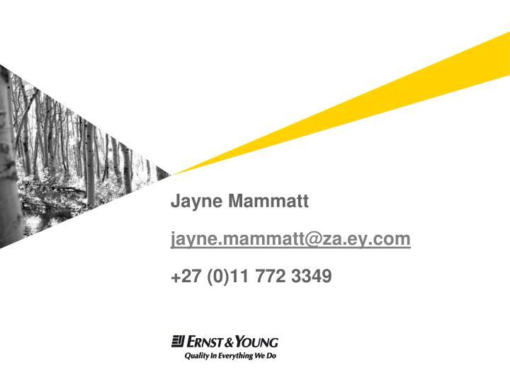 Jayne Mammatt
